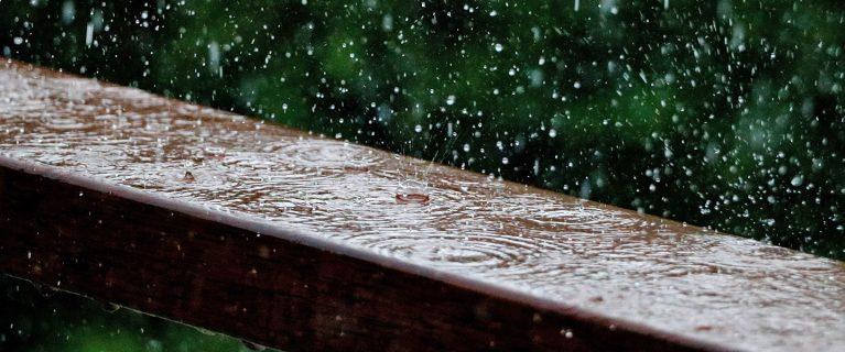 Regen ist für die Tonne!